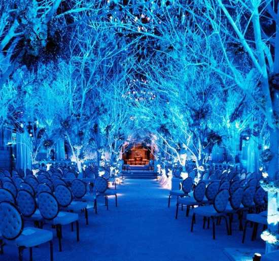 This Undated Photo Courtesy Of Wedding Lighting Designer Bentley Meeker Shows Designed By At The Melissa Rivers New York S