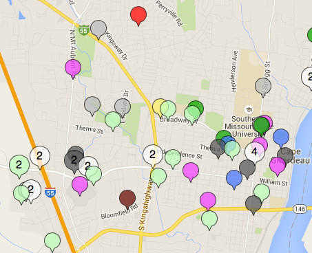 View interactive map of incidents