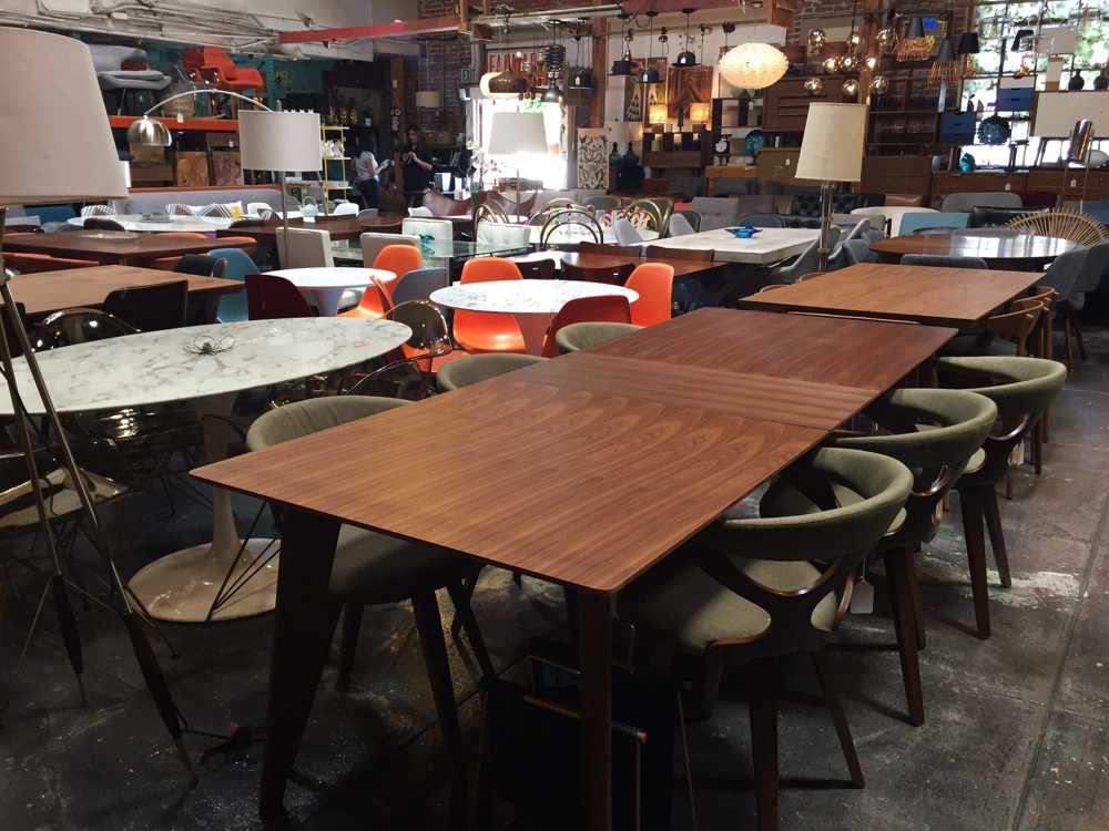 This Photo Taken On July 22 Shows Dining Room Tables And Chairs At Los  Angeles Store Sunbeam Vintage, Which Sells New, On Site Handmade, Imported  And ...
