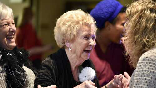 Ratliff Care Center hosts senior prom for residents, family and friends to beat post-holiday blues