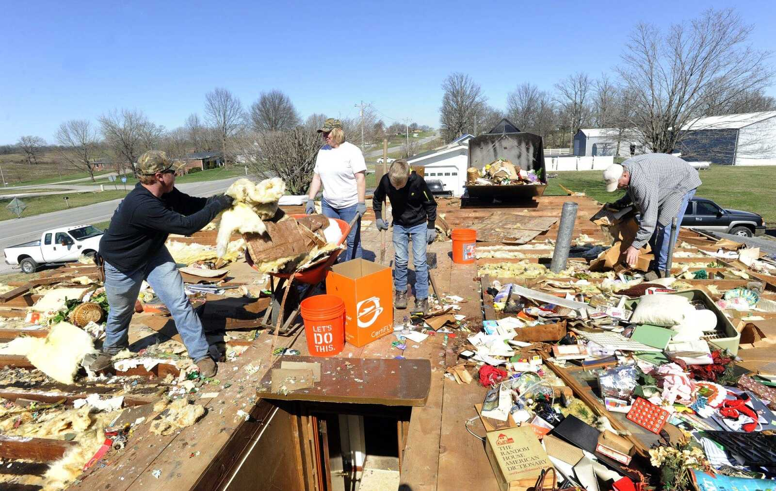 See the damage from a deadly storm in Perryville, Mo