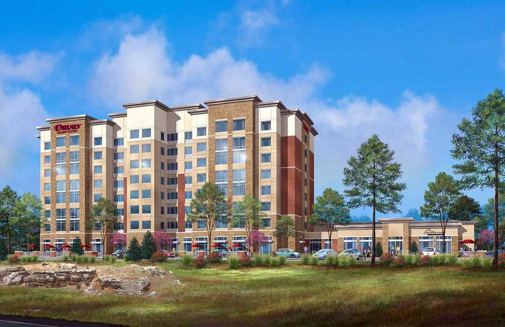 An Artist S Rendering Shows The Drury Plaza Hotel Cape Girardeau Convention Center As Seen From Interstate 55 And Southerner Restaurant Are