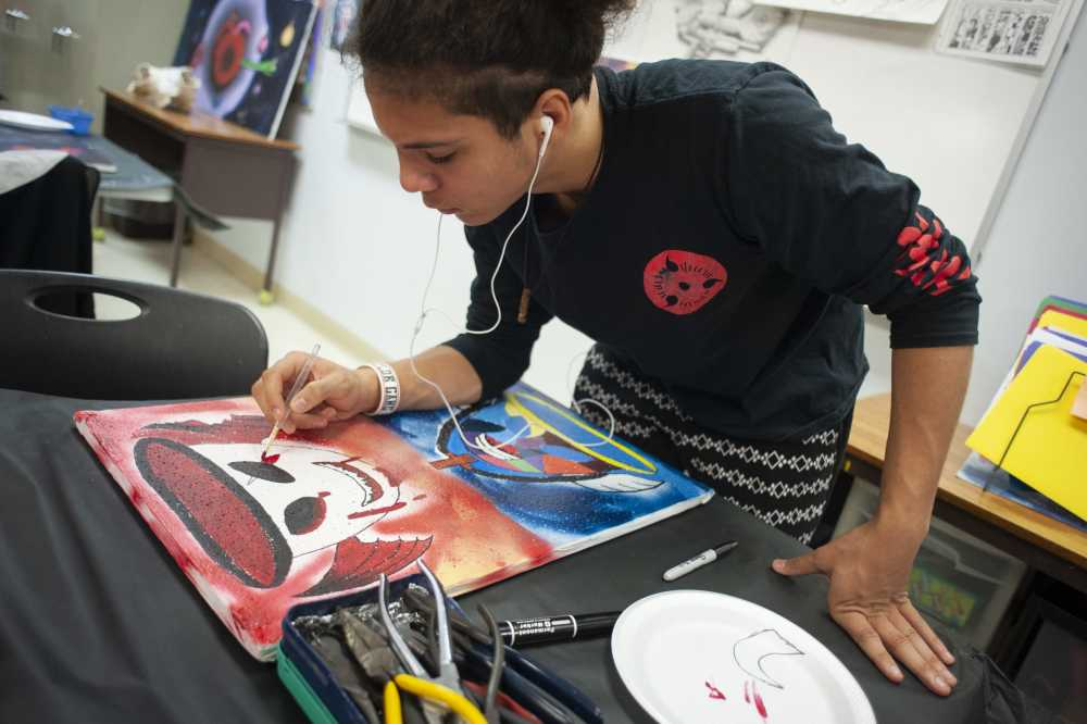 Ceiling art: Central Academy students paint with emotion