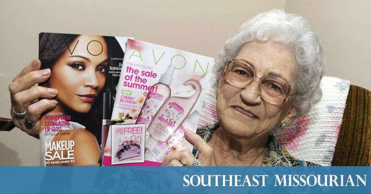 The Avon lady: Naomi Crain recently marked 58 years of selling Avon products