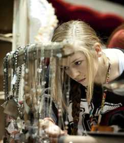 ... Ark., looks at necklaces during the 43rd AnnualÊ Christmas Arts and  Crafts Extravaganza Saturday, Nov. 23, at the show Me Center in Cape  Girardeau.