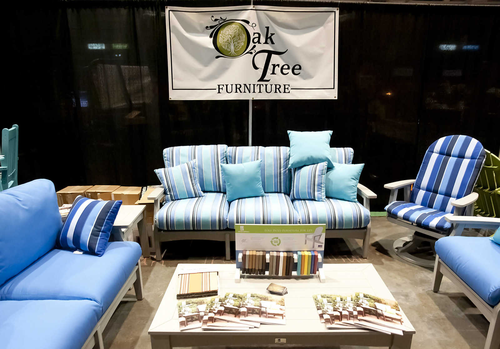 The Oak Tree Furniture Booth At The 2014 Heartland Home And Garden Show  Saturday, March 22, At The Show Me Center. The Show Featured Over 100  Exhibits.