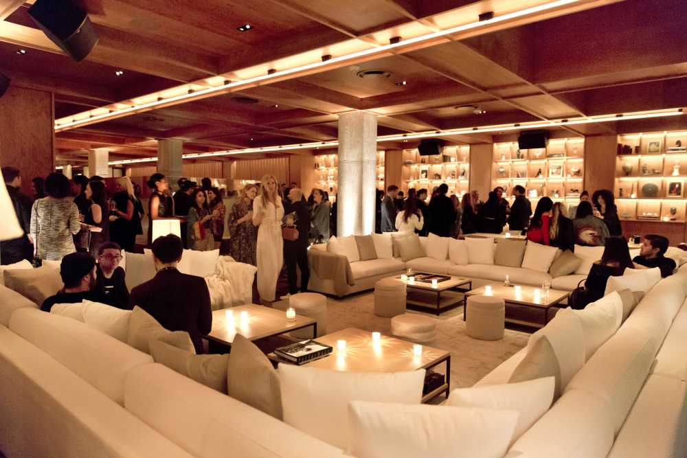 People Gather In A Plush Seating Area At The Public Hotel Opening Party New York Tuesday June 6 Has Variety Of Inviting Es