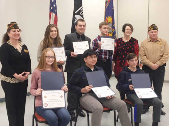 Persuasive Essay Writing Prompts Vfw Post  And Auxiliary Recently Held A Reception Honoring Winners Of  Their Annual Patriots Pen And Voice Of Democracy Essay Contests Can One Person Make A Difference Essay also Magazine Analysis Essay Submitted Story Patriots Pen And Voice Of Democracy Winners   First Day At College Essay