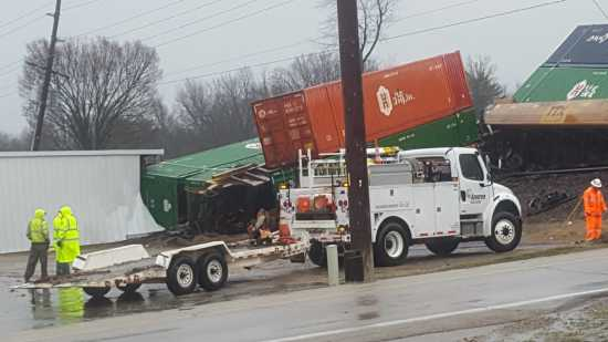 Local News: Work ongoing to clean up train derailment at