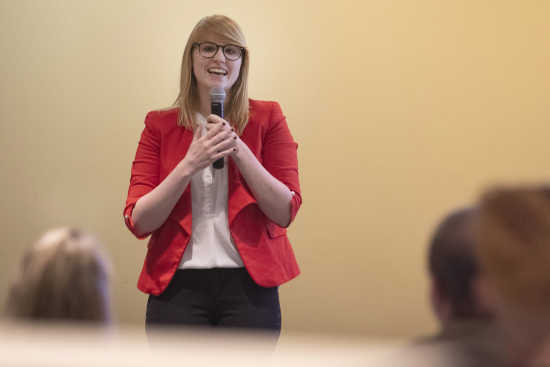 Business: Students present ideas for products, services