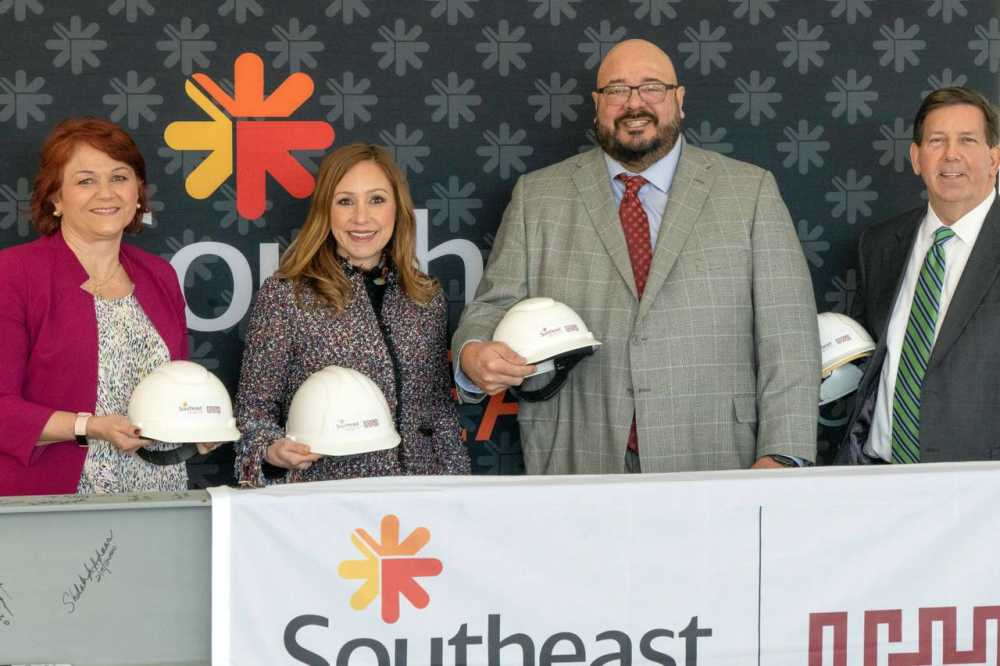 Construction milestone for behavioral health facility marked with beam signing
